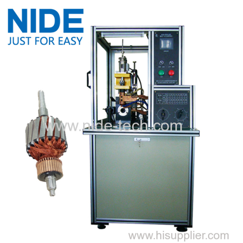 HOOK TYPE RISER(SLOT) TYPE COMMUTATOR HOT STAKING WELDING MACHINE