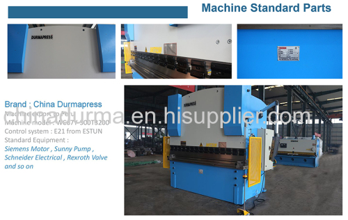 300T3200 cnc hydraulic press brake for 1200 thickness bending