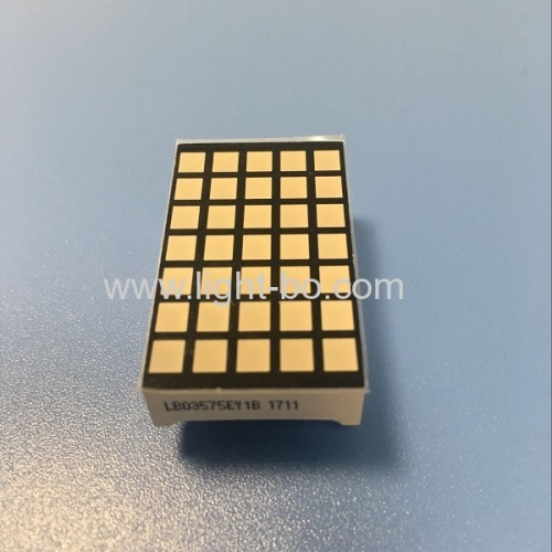 Ultra amber 5*7 square dot matrix LED display 3mm for elevator control panel