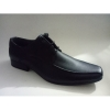 Plain toe men lace shoes