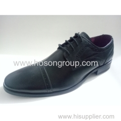 Men lace shoes with laser elements