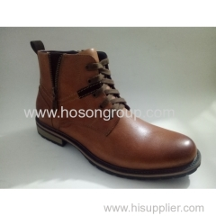 Inside zipper men lace anke boots