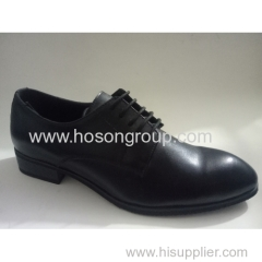 Black men classic style lace up shoes