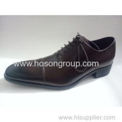 Gradient men business lace up shoes