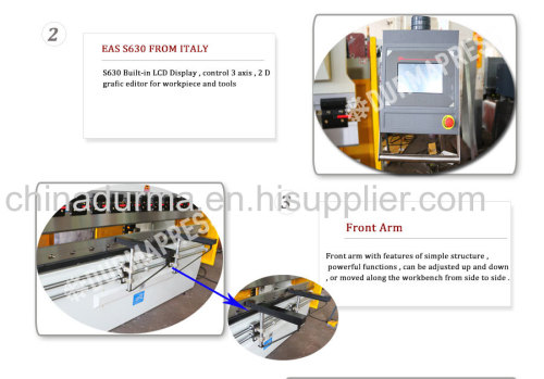 160T 4 meters hydraulic cnc press brake with ESA S60 controller
