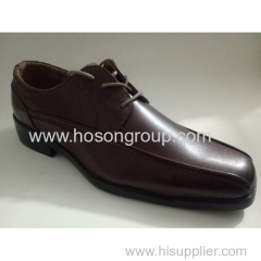Plain toe male tie up shoes