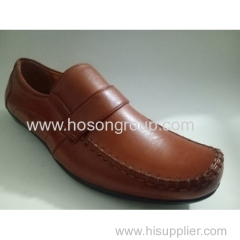 Men stitched clip on shoes