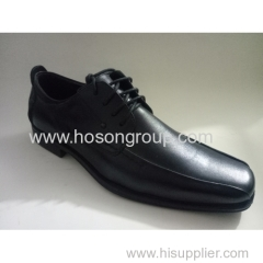Plain toe men casual tie up shoes