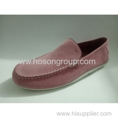 Suede men flat clip on shoes