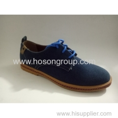 Suede men lace up shoes