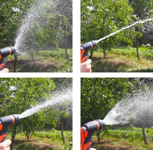 Plastic garden multipattern water trigger nozzle