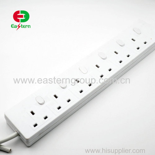 Small size electrical travel power strip UK standard power strip with USB output