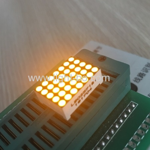 Ultra yellow dot matrix led displays 5*7 row cathode column anode for moving signs