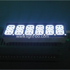 Ultra white 10mm 6 digit 14 segment led display common cathode for instrument panel