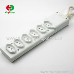 6 ways Brazil power strip with fuse INMETRO certification