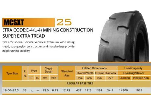 16.00-27.5 E4/L4 OTR TIRES for mining constructions