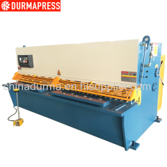 QC12K-6X3200 E21S cnc swing beam shearing machine