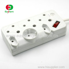 6 ways South Africa Standard electric Power Extension Socket with switch