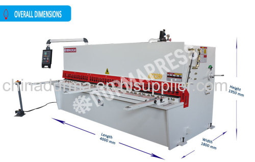 China 6*3200 plate hydraulic shearing machine with certificate