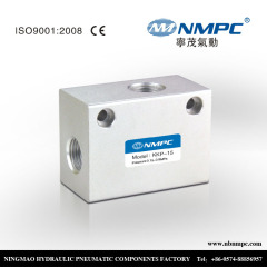 air exhaust thread pneumatic shuttle valve