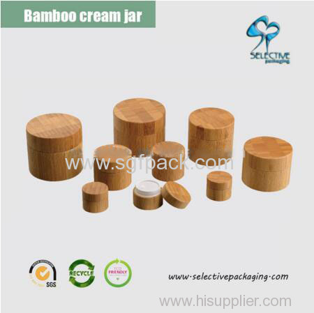 HOT 5g/10g/20g/30g/50g/100g/150g/200g/250g cosmetic jar bamboo in stock