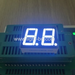 "Ultra bright white 0.56"" Dual digit 7 segment led display common anode for equipment panel"