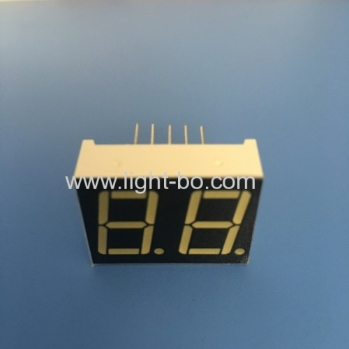 Ultra bright white 0.56  Dual digit 7 segment led display common anode for equipment panel