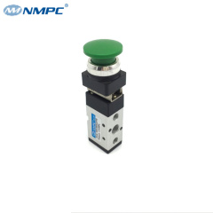 5 way push button mechanical valve