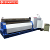 CE Certificated Electric 3-roll symmetrical slip plate rolling machine