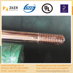 copper coated threaded earth rod