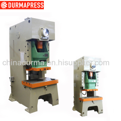Steel welded JH21 80T C type metal punching machine power press
