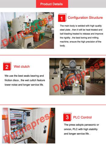 JH21-45 sheet metal hand punch Automatic steel hole punching pneumatic machine