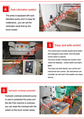 JH21 open type high performance punching press machine with fixed table