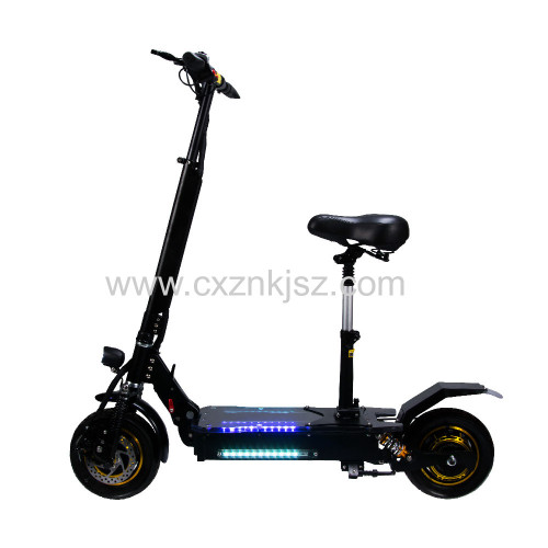 10 Inch Electric Scooter Off-road Straight Suspension Double Drive (Acrylic Pedal)