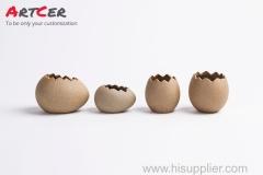ODM & OEM Handicraft Custom Ceramic Egg Shell Pattern Mini Flower Pot Planter