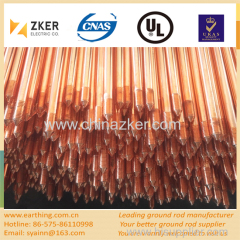 copper coated pointed-threaded ground rod