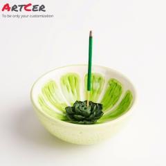 ODM & OEM Handmade Custom Ceramic Watermelon Pattern Incense Burner Holder