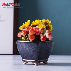 Artcer Ceramic Glazed Mini Flower Pot Christmas Decoration 2017