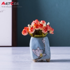 Artcer Handmade Decorative Beautiful Ceramic Glazed Mini Flower Pots Wholesale