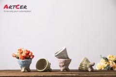 Artcer Ceramic Glazed Mini Flower Pot Seedling Planter