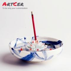 ODM & OEM Handmade 3D Customized Resin with Ceramic Incense Burner Holder for Home Decoration