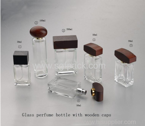round square bamboo wooden lids for perfume bottle caps 30ml glass perfume bottle wooden lid