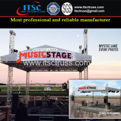 4 Tower Gable Roof Truss Rigging System for Stage Lighting