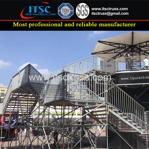 Trussing Staging Rigging with Scaffolding for VIP Zone Support