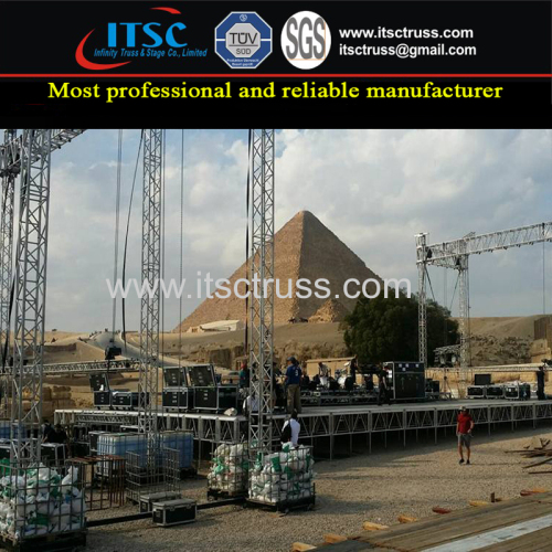 Outdoor Truss Rigging Structure for Egypt Pyramid Live Concert Event