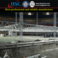Indoor Medium Duty Flat Roof Truss Rigging Structure