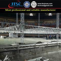 Indoor Medium Duty Flat Roof Truss Rigging Structure