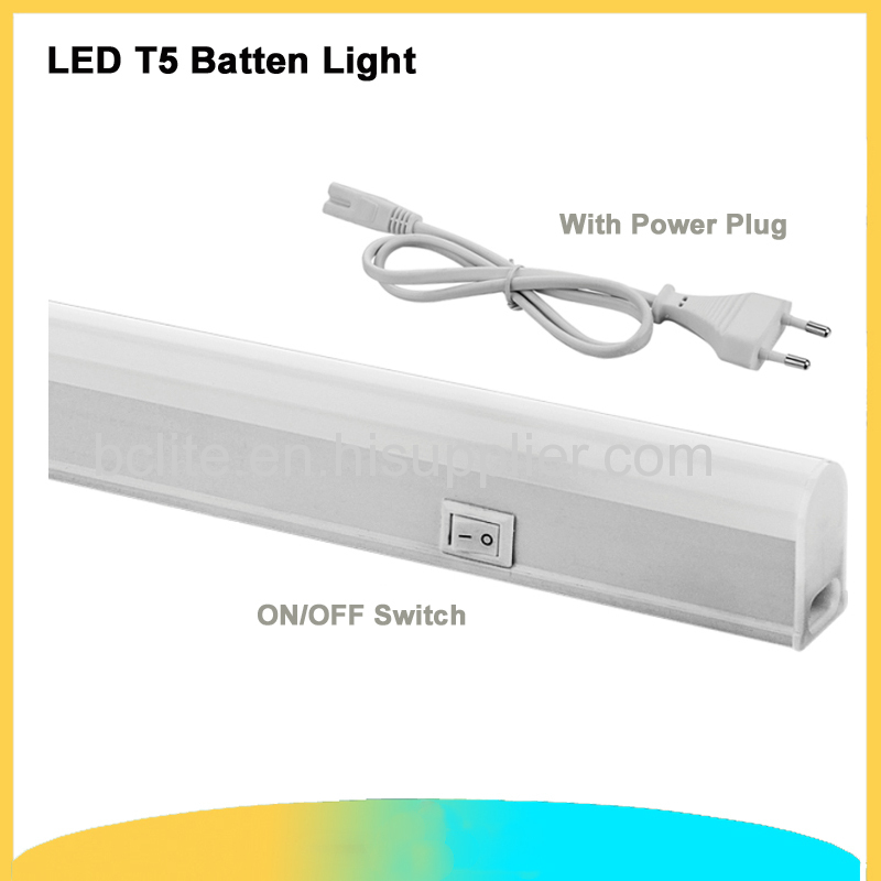 1.2m T5 batten light 18w led linear light with on /off switch