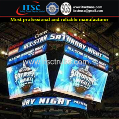 LED Screen Polygon Multipurpose and Advertising Aluminum Truss Rigging System in Gymnasium Concert