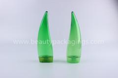 Free Sample Unique Shape Green Empty PETG Body Lotion Shampoo Bottle